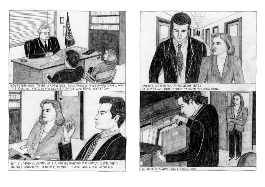 Architecture Interior Illustration The X-Files X Files XFiles Comic Josephin Ritschel
