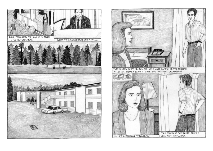 Architecture Interior Illustration The X-Files X Files XFiles Comic Josephin Ritschel